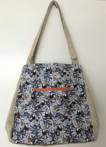 Shopper Vogel grau